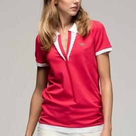 V Yaka Pembe Lacoste Polo Yaka T-shirt Modelleri