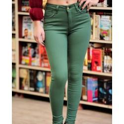 Yüksek Bel Yeşil Pantolon Modelleri