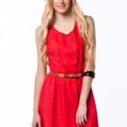 Yazlık 2015 Kırmızı Elbise Modelleri