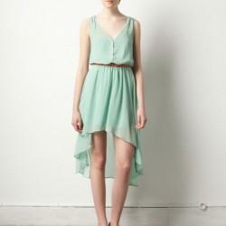 Yazlık Asimetrik Kesim Elbise Modelleri