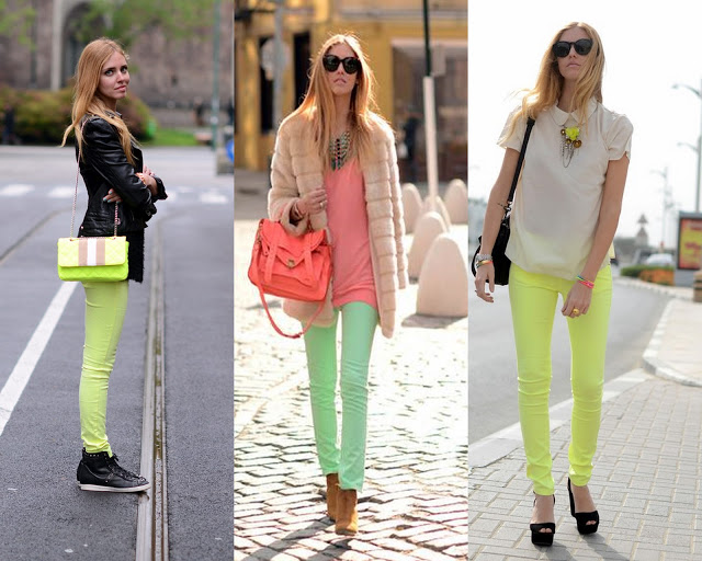 Yeni 2015 Neon Pantolon Modelleri