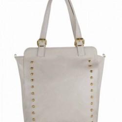 Zımba Detaylı Beyaz 2015 Çanta Modelleri