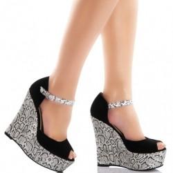 Zarif Dolgu Yazlık Topuklu Ayakkabı Modelleri