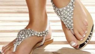 Zarif Taşlı Sandalet Modelleri
