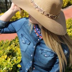 Zincir Detaylı Hasır Şapka Modelleri