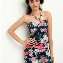 Çiçek Desenli Straplez Colin's Yazlık Elbise Modelleri
