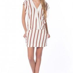 Çizgili Zara Elbise Modelleri