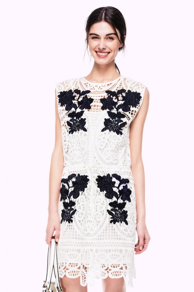 İşlemeli Beyaz İpekyol 2015 Elbise Modelleri