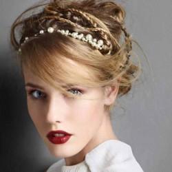 İnci Süslemeli Saç Bandı Modelleri