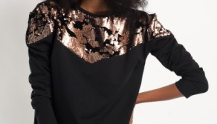 Şık Siyah Payetli Bluz Modelleri