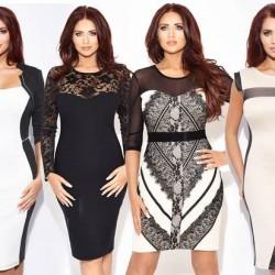 2015 Monokrom Elbise Modelleri