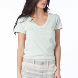 Buz Mavisi V Yaka GAP 2015 T-shirt Modelleri
