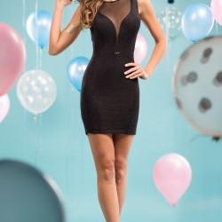 Dekolteli Siyah Parti Elbisesi Modelleri