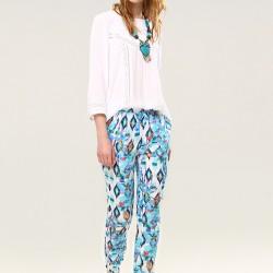 Desenli Şalvar Pantolon Bohem Tarz Sokak Modası Modelleri