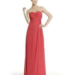 Gül Kurusu Uzun Straplez Elbise Modelleri