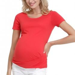 Kırmızı Bluz Gebe Yeni Sezon Hamile Giyim