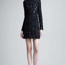 Kısa Form Siyah Uzun Kollu Abiye Modelleri