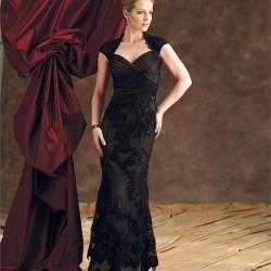 Kolsuz Siyah Güpürlü Elbise Modelleri