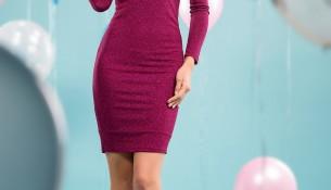 Mürdüm Rengi Parti Elbisesi Modelleri