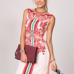 Pano Baskılı Kolsuz Elbise Ola Yeni Sezon Modelleri