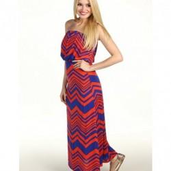 Renkli Yazlık Straplez Elbise Modelleri