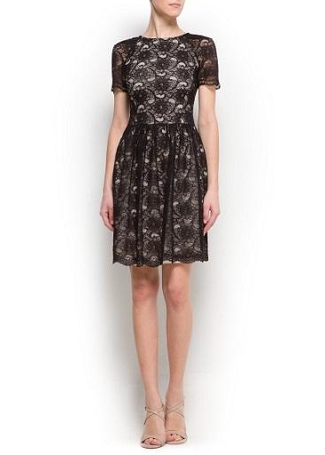 Siyah Güpürlü Elbise Modelleri