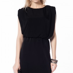 Siyah Kolsuz Zara Elbise Modelleri