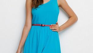 Tek Omuz Turkuaz Colin's Yazlık Elbise Modelleri