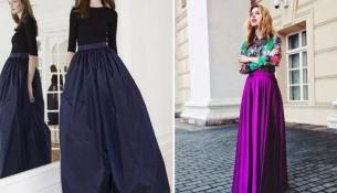 Uzun 2015 Kloş Etek Modelleri