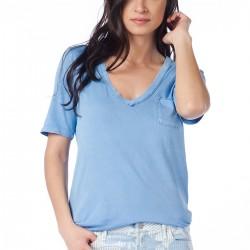 V Yaka Mavi GAP 2015 T-shirt Modelleri