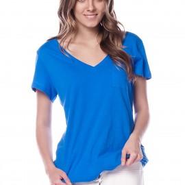 V Yaka Saks Mavisi GAP 2015 T-shirt Modelleri