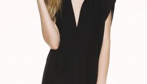 V Yaka Siyah İpekyol 2015 Elbise Modelleri