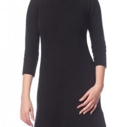 Yarım Kol Sade Siyah Zara Elbise Modelleri