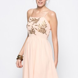 Çiçek desenli vero moda elbise modeli 2015