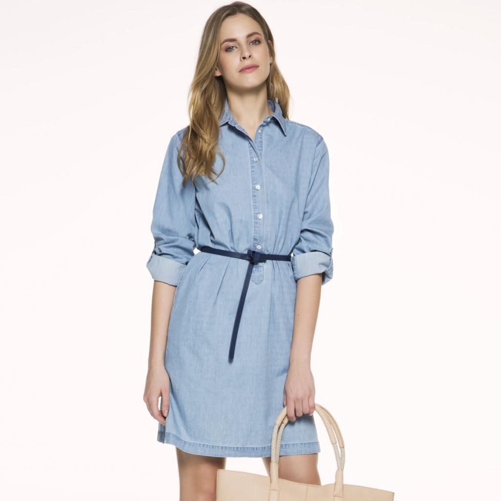 Çok şık ipekyol jean elbise modeli