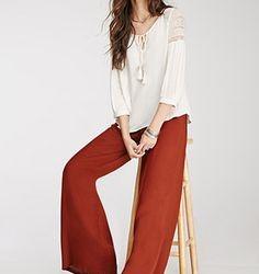 Çok Zarif Bol Paça Pantolon Modelleri