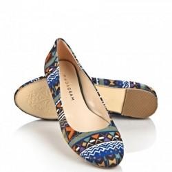 Şık Babet Etnik Desenli Ayakkabı Modelleri