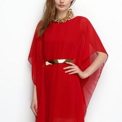 Altın Kemerli Kırmızı Sense 2015 Elbise Modelleri