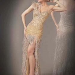 Askılı Taş İşlemeli Elbise Modelleri