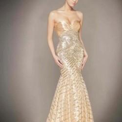 Balık Etek Taş İşlemeli Elbise Modelleri