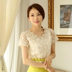 Beyaz Dantelli Bluz Modelleri 2015