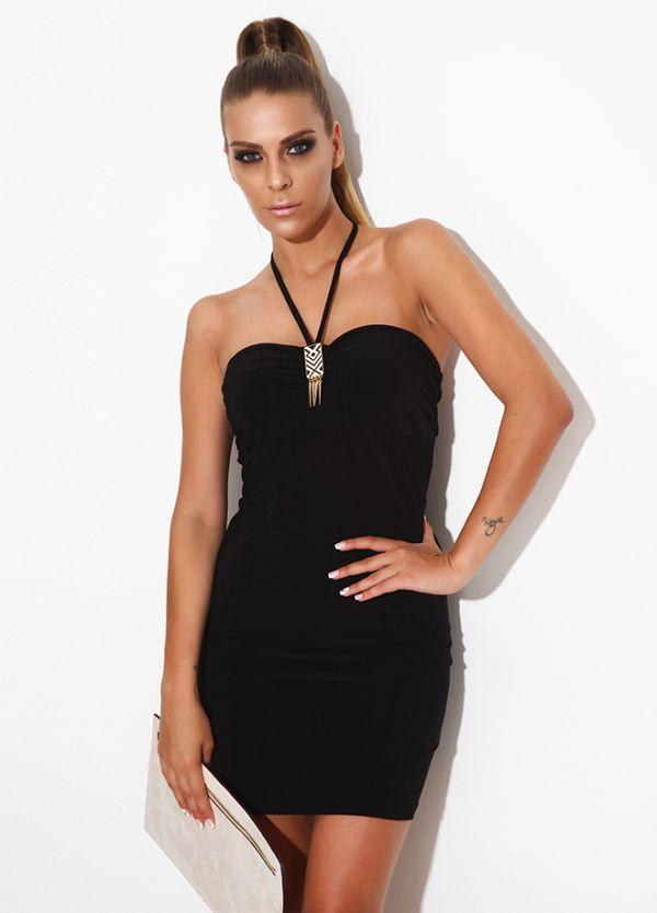 Boyun Askılı Siyah Sense 2015 Elbise Modelleri