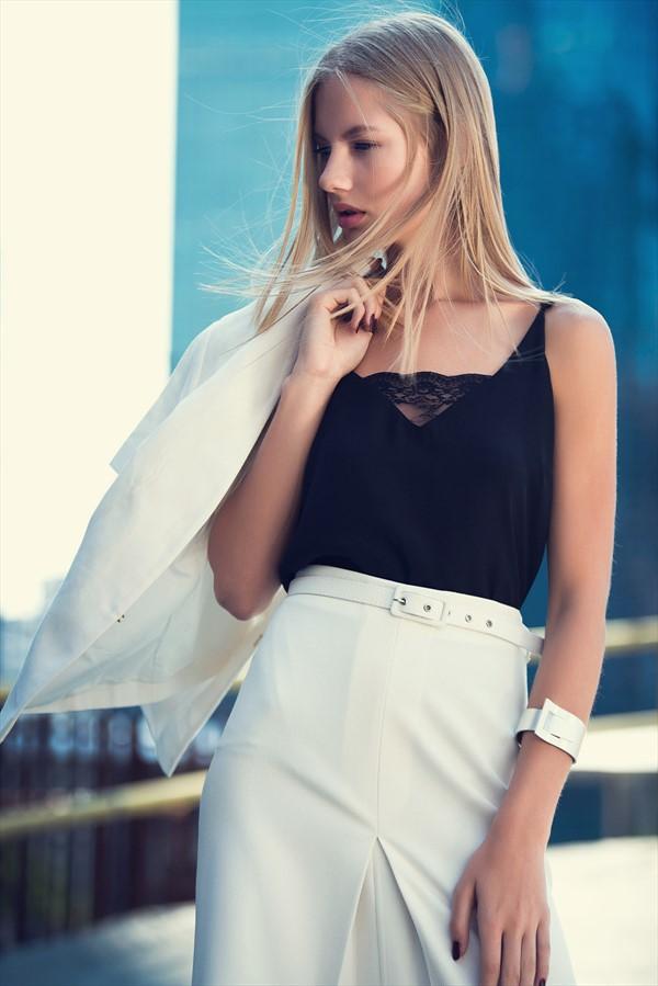 Dantel Detaylı Siyah adL Bluz Modelleri