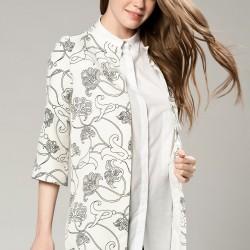 Desenli Beyaz Ceket Vavist 2015 Modelleri