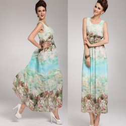 Desenli Kolsuz Trend Elbise Modelleri 2015
