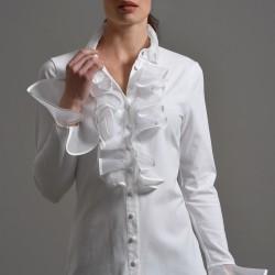 En zarif volanlı gömlek modelleri
