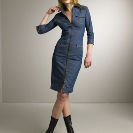 Fermuarlı Kot Elbise Modelleri