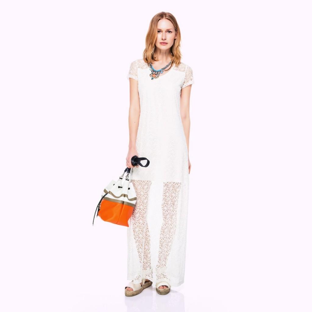 Güpür süslemeli ipekyol elbise modeli 2015