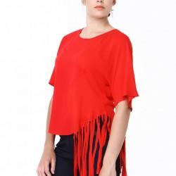 Kırmızı Crop Bluz Codentry Yaz Sezonu Modelleri