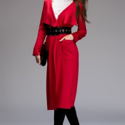 Kırmızı Trençkot Vavist 2015 Modelleri